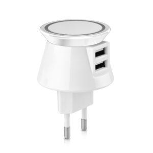 קארה- מטען אלחוטי בחיבור לחשמל, 2 מחברי USB